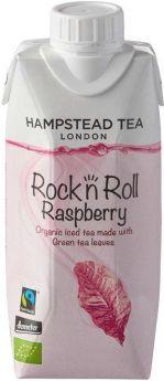 Hampstead Tea Organic & Fair Trade Rock n Roll Raspberry Green Iced Tea 330ml x8