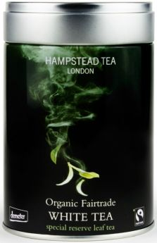 Hampstead Tea Organic Green Leaf Tea - Tin 100g x6