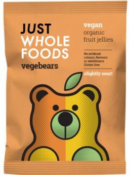 Just Wholefoods Vegebears - Slightly Sour! 100g x8