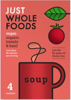 Just Wholefoods Organic Carrot and Coriander Soup Mix 125g x6