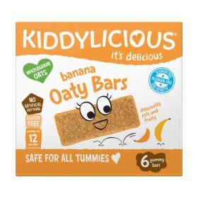 Kiddylicious Banana Oaty Bars 20g (6's) x6