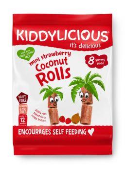 Kiddylicious Strawberry Coconut Rolls 6.8g (8's) x5