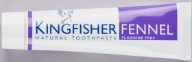 Kingfisher Toothpaste Fennel fluoride-free 12x100ml