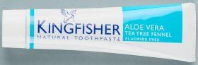 Kingfisher Toothpaste Aloe Vera/Tea Tree Fennel 12x100ml