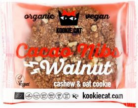 Kookie Cat Organic Hemp and Cacao, Cashew and Oat Cookie 50g x12