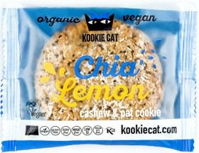 Kookie Cat Organic Cacao Nibs and Walnut, Cashew and Oat Cookie 50g x12