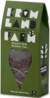 Kromland Farm Organic Biodegradable Rooibos Earl Grey Teapees 30g (15's) x4