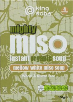 King Soba Organic Red Miso with Tofu and Ginger Instant Soup 60g x10