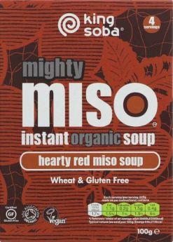 King Soba Organic Mellow White Miso Instant Soup 100g x10