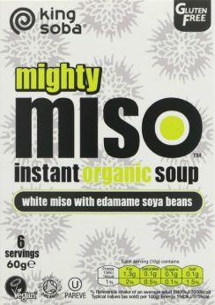 King Soba OG Miso Soup Edamame Soya Bean 60g x10