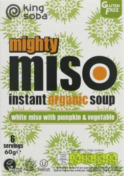 King Soba Og Miso Soup Pumpkin & Veg 60g x10