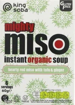 King Soba Og Miso Soup Tofu & Ginger 60g x10