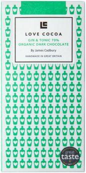 Love Cocoa Organic 70% Maldon Sea Salt Dark Chocolate Bar 80g x12