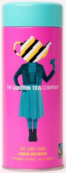 London Tea Company Fair Trade Three Cheers for Tea - Earl Grey, Sencha Green Tea and Peach & Rhubarb (75's) x6