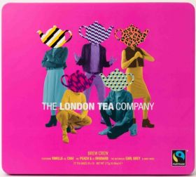 London Tea Company Fair Trade The Tea-Totaller - Jasmine Green Tea Pyramid Tube Tin (15's) x12