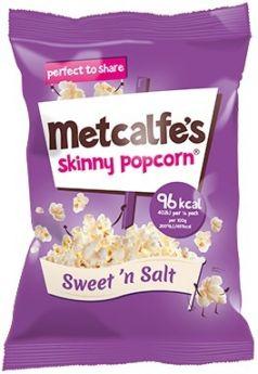 Metcalfe's Skinny Sweet n Salt Popcorn 25g x24