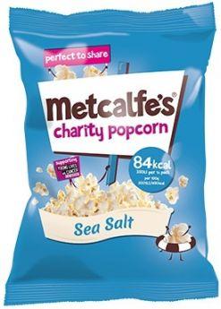 Metcalfe's Skinny Sea Salt Popcorn 17g x24