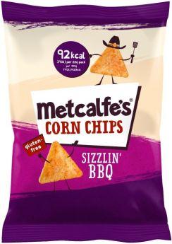 Metcalfe's Skinny Corn Chips Nacho Cheese 22g x14