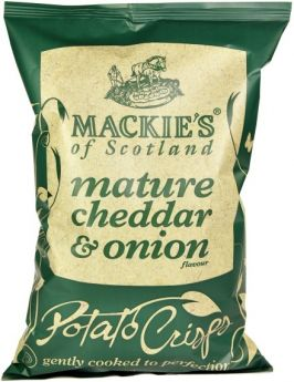 Mackie's of Scotland Mature Cheddar and Onion Potato Crisps 40g x24