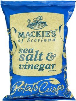 Mackie's of Scotland Sea Salt and Vinegar Potato Crisps 40g x24