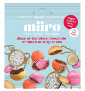 MiiRO Discs of signature chocolate enrobed in a crisp shell 35g x12