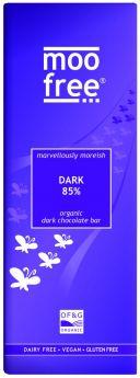 Moo Free Organic Marvellously Moreish 65% Dark Chocolate Bar 80g x12