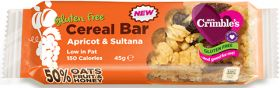 BBE: 23/08/17 - Mrs Crimble's Apricot and Sultana Cereal Bar 45g x18