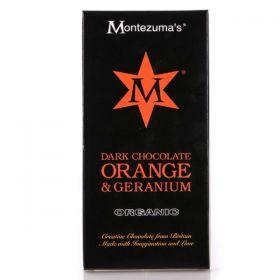 Montezuma Organic Dark Chocolate Orange & Geranium 90g x12