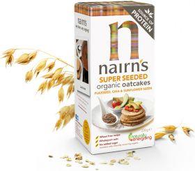 Nairns Organic Oatcakes - Herb & Pumpkin Seed 200g x12