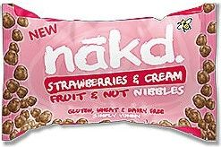 Promo Nakd Strawberries and Cream Fruit & Nut Nibbles 40g x18