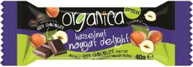 Organica Hazelnut Nougat Dark Choc Bar 40g x24