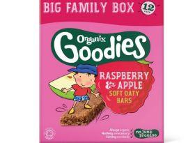 Organix Goodies Raspberry & Apple Oaty Bars Multipack 30g (6's) x6
