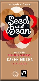 Seed and Bean Fair Trade & Organic Sweet Orange and Thyme Fine Dark Chocolate 85g x8