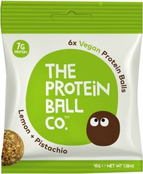 Protein Ball Co. Lemon and Pistachio (15% Vegan Protein) 45g x10