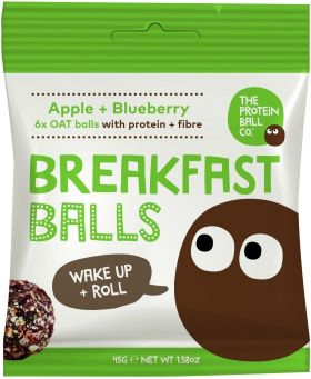 Protein Ball Co. Hazelnut and Cacao Breakfast Balls (Protein and Fibre) 45g x10