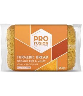 Profusion Organic Turmeric Rice Bread - Glutenfree 250gx12