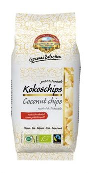 Pearls of Samarkand Fairtrade and Organic Coconut Chips Roasted 110g x12
