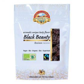 Pearls of Samarkand Fairtrade and Organic Black Beauty Raisins 100g x7