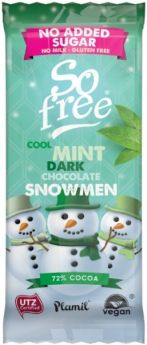 So Free Organic Milk Chocolate Alternative Snowmen Tray 30gx12