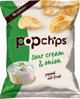 Popchips Sour Cream & Onion 23g x24