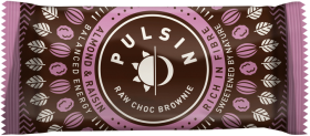 Pulsin Almond and Raisin Raw Chocolate Brownie 50g x18