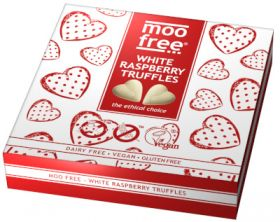 Moo Free White Raspberry Truffles 108g x6