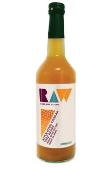 Raw Organic Apple Cider Vinegar With Honey (10%) - with Mother 500mlx6