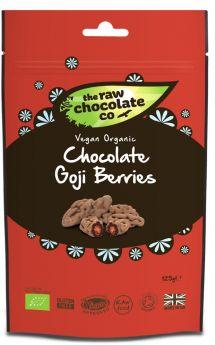 Raw Chocolate Goji Berries 6x125g Pouches