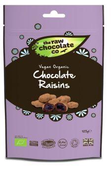 Raw Chocolate Raisins 6x125g Pouches
