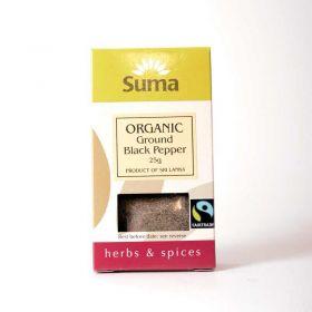Suma Fairtrade Organic Black Pepper (6x25g)