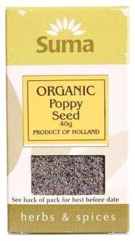 Suma Organic Poppy Seed Blue (6x40g)