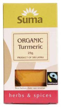 Suma Fair Trade Organic Turmeric (6x25g)