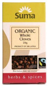 Suma Fair Trade Organic Whole Cloves (6x25g)
