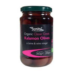 Sunita Olives Organic Kalamon Olives 6x360g